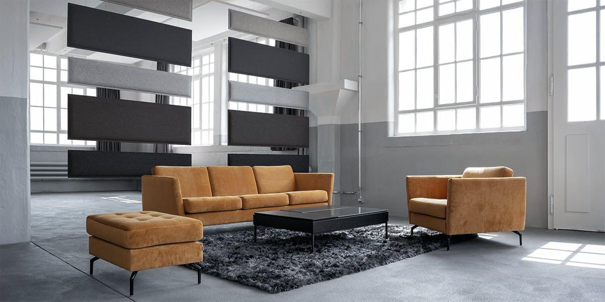 Swisswool Woopies Akustikpaneele in grau in grossem Raum